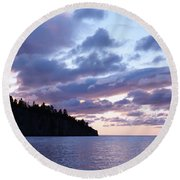 Early Morning At Tettegouche Round Beach Towel
