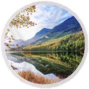 Early Morning Buttermere Round Beach Towel