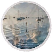 Early Morning Calm Round Beach Towel