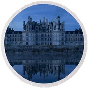 Early Morning Chateau Round Beach Towel