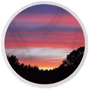 Early Morning Color Round Beach Towel by Kathy Eickenberg