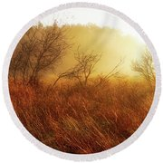 Early Morning Country Round Beach Towel