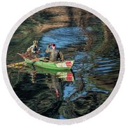 ...nile River Early Morning Magic.... Round Beach Towel