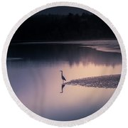 Early Morning Greeter Round Beach Towel