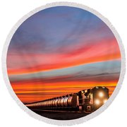 Early Morning Haul Round Beach Towel by Todd Klassy