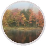 Moose River Reflections Round Beach Towel