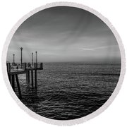 Early Morning Redondo By Mike-hope Round Beach Towel