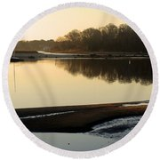 Early Morning Reflections  Round Beach Towel