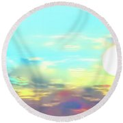 Round Beach Towel featuring the photograph Early Morning Rise- by JD Mims