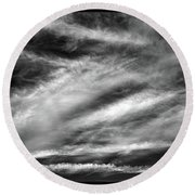 Round Beach Towel featuring the photograph Early Morning Sky. by Terence Davis