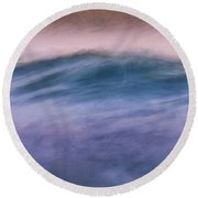 Early Morning Wave Round Beach Towel