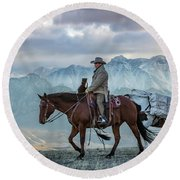 Early October Hunt Wild West Photography Art By Kaylyn Franks Round Beach Towel