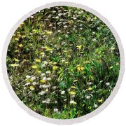 Early Spring Beauty In Umbria Round Beach Towel