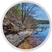 Early Spring... Round Beach Towel