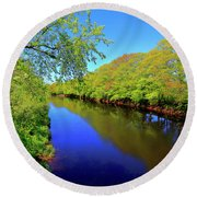 Early Spring On The Annapolis River Round Beach Towel