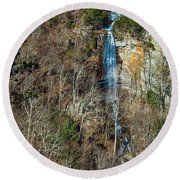 Early  Spring Waterfall  Round Beach Towel