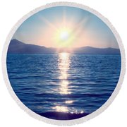 Early Sunset Round Beach Towel