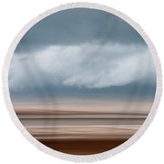 Early Winter At Sandy Neck Round Beach Towel