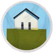 Earlysville Baptist Church Round Beach Towel