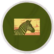 Earned Stripes Round Beach Towel