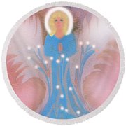 Round Beach Towel featuring the digital art Earth Angel Of Love by Sherri Of Palm Springs