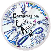 Earth Angel Round Beach Towel