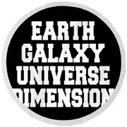 Earth Galaxy Universe Dimension Round Beach Towel
