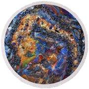 Earth Gems #18w01 Round Beach Towel
