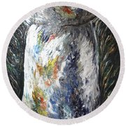 Earth Latte Stone Round Beach Towel