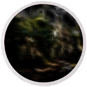 Earth Lights 1 Round Beach Towel by William Horden