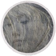 Round Beach Towel featuring the photograph Earth Memories - Sleeping River # 3 by Ed Hall