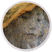 Earth Memories-stone # 4 Round Beach Towel by Ed Hall