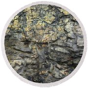Round Beach Towel featuring the photograph Earth Memories - Stone # 6 by Ed Hall