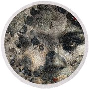 Earth Memories - Stone # 7 Round Beach Towel by Ed Hall