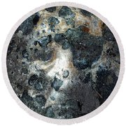 Round Beach Towel featuring the photograph Earth Memories - Stone # 8 by Ed Hall