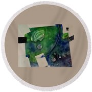 Earth Over Sky Round Beach Towel