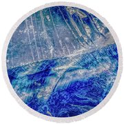 Earth Portrait 001-102 Round Beach Towel