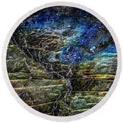 Earth Portrait 01-18 Round Beach Towel