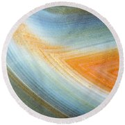 Earth Portrait 092 Round Beach Towel
