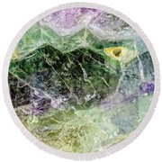 Earth Portrait 268 Round Beach Towel