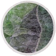 Earth Portrait 294 Round Beach Towel