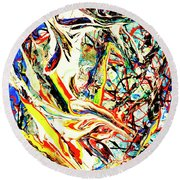 Earth Quaked Round Beach Towel by Elf Evans