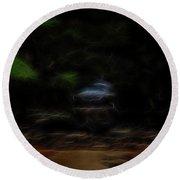 Round Beach Towel featuring the digital art Earth Spirit 3 by William Horden