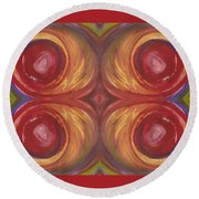 Earth Storm Quad Round Beach Towel