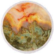 Earth Textures Round Beach Towel