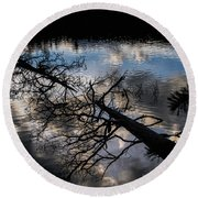 Earth To Water Round Beach Towel