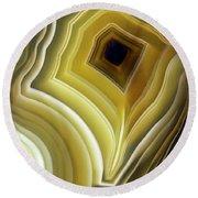 Earth Treasures - Yellow Agate Round Beach Towel by Jaroslaw Blaminsky