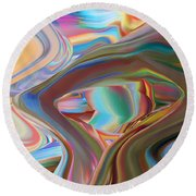 Earth Waves Round Beach Towel