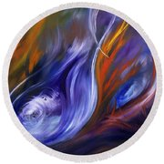 Earth, Wind And Fire Round Beach Towel
