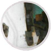 Earth Pattern Round Beach Towel